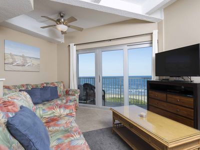 Photo for Aquarius 605 - Amazing Sunrise View, Beachfront Condo, Pool, Hot Tub, BBQ Area