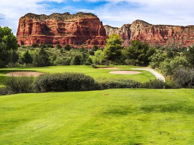 Photo for Sedona BELL ROCK, golf-pool-hot tub-hike, 2 fireplaces, restaurant, VIEWS
