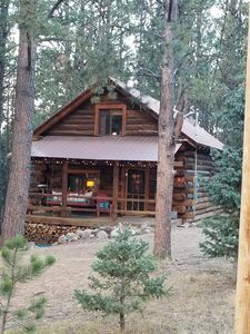 Photo for Romantic, Quiet, Rustic Log Cabin in the pines.