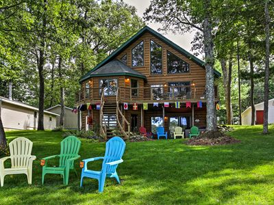 Photo for Lakefront Branch Township House w/Dock & Hot Tub!