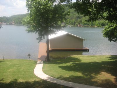 Photo for 4 Bdrm / 3 Bath Luxury Home Directly On Water in Honeycomb w/Easy Docking Pier