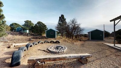 Photo for Pavilion with Full Kitchen, Cabins, Wagon, Tipi, and Campfire Bowl