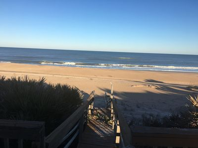 Photo for Oceanfront private beach house 1300 weekly March -September