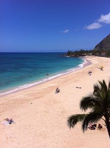 """""""Spectacular Crescent Shaped White Sandy Beach"""" View from the Condo"""
