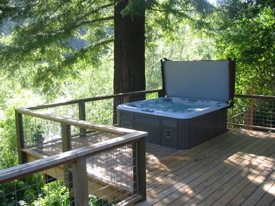 Photo for Zin and Zen on the River - Hot Tub, Kayaks, Views, Bikes!