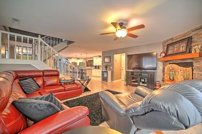 The massive interior has everything you need in a home-away-from-home.