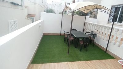 Photo for Beautiful Bungalow in Los Balcones, Torrevieja with private terrace of 25 m2