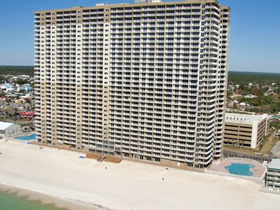 Photo for Stunning Gulf front condo w/shared pools, hot tub, Roman spa, sauna, & game room