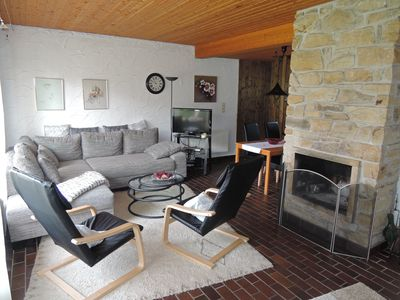 Photo for House ***, quiet, central, North Sea beach, beach chair, fireplace, Wi-Fi, driving.