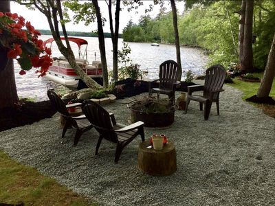 Photo for Beautiful Lakeside Four Season Cottage between Acadia and the Katahdin Region
