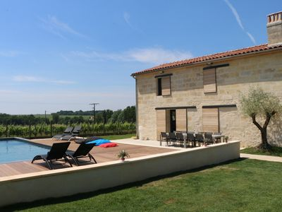 Photo for Old wine farm renovated 12mn St Emilion