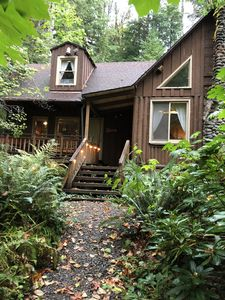 Photo for Creek Runs UNDER Our Cabin. Dog Ok