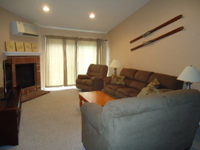 Living Room - with couch, love seat , recliner and 46 inch Samsung LED TV