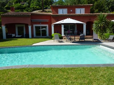 Photo for Beautiful contemporary villa, air conditioned, lots of charm, quiet, unobstructed view.
