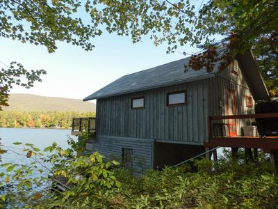 Photo for Cute boathouse allows you to sleep right on the water, making it the perfect romantic hideaway