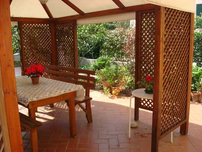 Photo for comfortable studio just steps from the beach of Marina di Campo