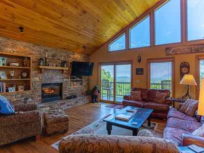 Photo for Above It All - AMAZING VIEWS! In Blowing Rock, hot tub, pool table!