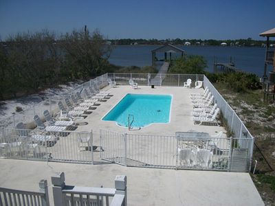 Beautiful private pool and view of Lagoon off of North balconies.
