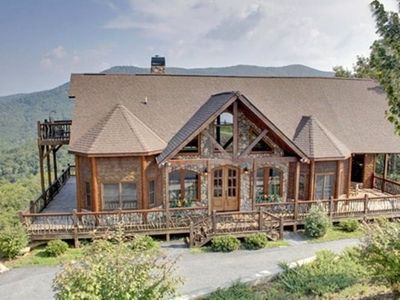 Photo for This large log home is fit for a king! It is located next door to The Lodge and within walking dista