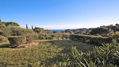 Photo for Studio cabin - 4 people - Sea view - Swimming pool residence - Wifi - Sainte Maxime
