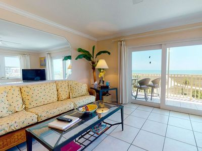 Photo for Fabulous Location. Updated Beachfront Condo. Pool, Recreation Amenities, Comfortable!