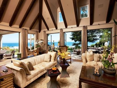 The formal living room doesn't feel so formal when you open the doors and let that ocean air inside.