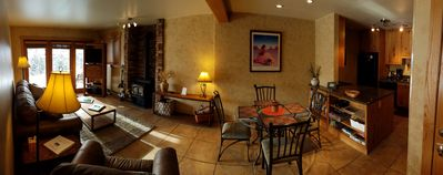 Immaculate large living/dining area