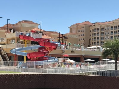 Shipwreck Island, the awesome new pool at the resort. Water slides/lazy river...