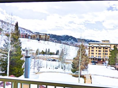Photo for Mountain Views Next to the Slopes! Hot tub Large 2 level with Views!