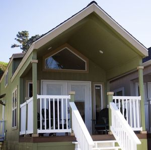 Photo for Harbor front Tiny home/ furnished deck, Awesome views and sounds - In historic Noyo Harbor