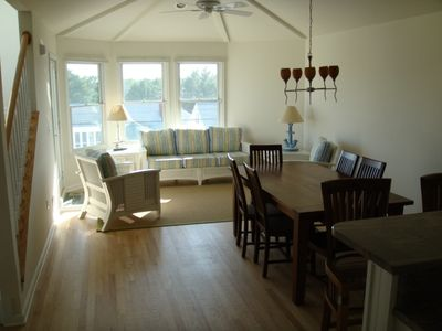 LIVING ROOM AND DINING WITH OPEN FLOOR PLAN