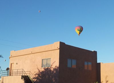 Hot air balloons routinely launch near our location.