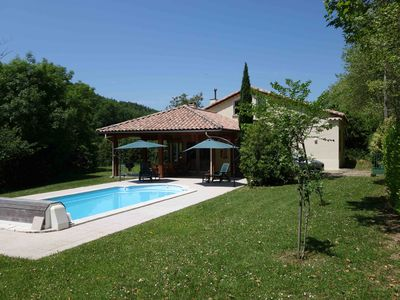 Photo for Stylish villa with heated pool in small village in heart of Cathar country.