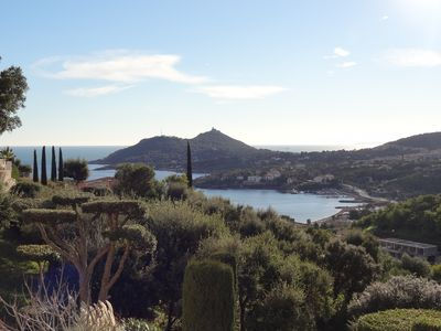 Photo for Villa sea view, for 8 pers, in private domain in Agay, swimming pool, air conditioning, internet