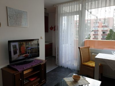 Photo for modern 1 room apartment 36m² *** free W-Lan for 2 persons near thermal bath 100