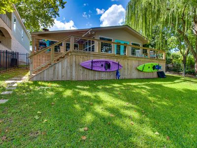 Photo for NEW LISTING! Dog-friendly lakefront home with private sun deck and boat lift!