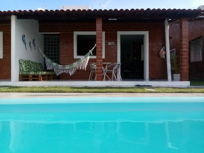 Photo for Beautiful Beach House in private, furnished, 250mt from the beach and sleeps up to 12 people