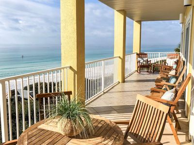 Photo for Beach Front Paradise! Pool - WiFi - Elevator - Steps to Sugar Sand Beaches! 2 Miles to Seaside