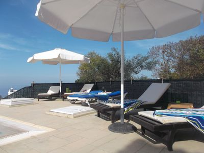 Lounging by the Pool, Sunbathing.  Northern Cyprus Sun