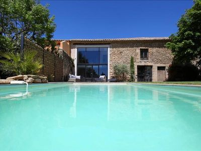 Photo for Renovated Provençal farmhouse in a quiet environment, with pool