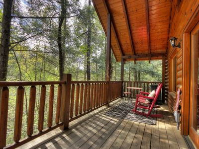 Photo for STUNNING Cabin in RESORT W/FULL Privacy & Hot-tub!