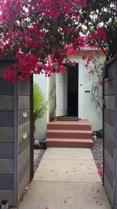 Flowery entrance to the house.