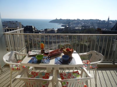 Photo for Apartment ST QUAY PORTRIEUX sea view on the 3rd floor in a quiet residence