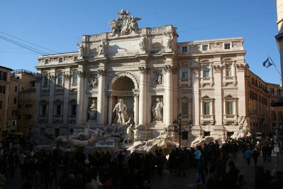 The Magnificent Trevi Fountain exactly 20 steps away.