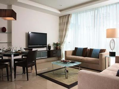 Photo for 1 BR/2 BA Suite with On-Site Pool and Fitness Center Minutes From Dubai Beaches