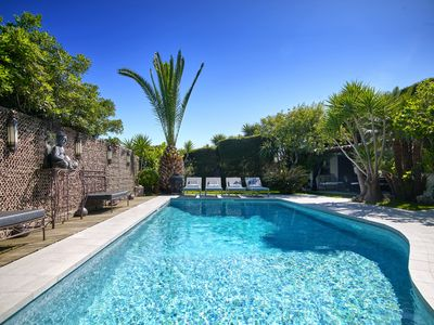 Photo for CANNES: Californian villa, very private, 15 mins walk to beach. Child friendly