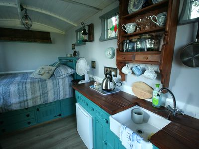 Photo for Shepherds Hut with sea views