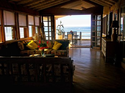 Photo for 2BR Beach House on 6 Acres Private Gated Property 500 Sq ft Deck