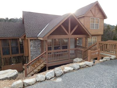 Photo for 5 Star Superhost cabin w private BBQ!  Stay at our Rustic Retreat in StoneBridge