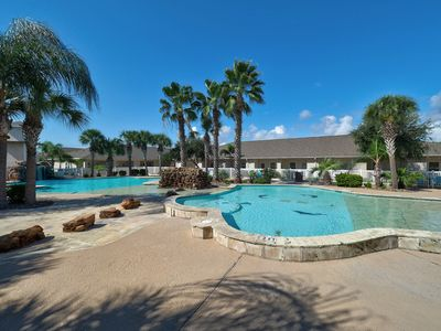 Photo for Large Palm Bay architect designed/lagoon style/poolside/excellent housekeeping!